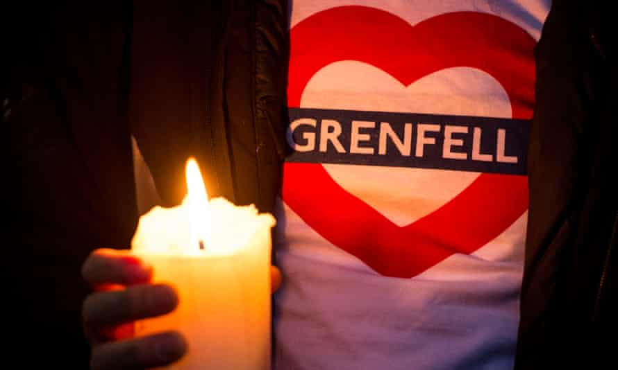 A memorial march for victims of the Grenfell Tower fire on 14 September