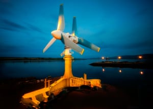ak1000 turbine on the quayside at invergordon in easter ross