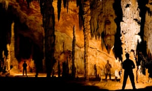 Inside the Actun Tunichil Muknal caves.