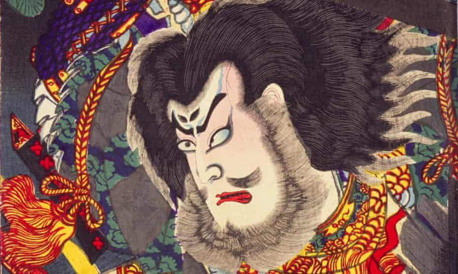Detail from Death of Masakado Taira at Shimahiroyama, by Toyohara Kunichika.