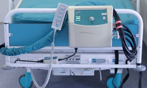 A hospital bed.