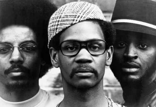 The Last Poets: Jalal Mansur Nuriddin, Abiodun Oyewole and Umar Bin Hassan, pictured in 1971.