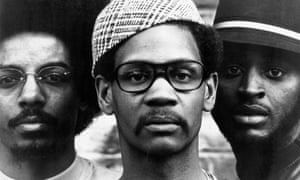 The Last Poets<br>NEW YORK CITY - CIRCA 1971: The Last Poets (L-R Jalal Mansur Nuriddin, Abiodun Oyewole and Umar Bin Hassan) pose for a portrait circa 1971 in New York City, New York. (Photo by Michael Ochs Archives/Getty Images)