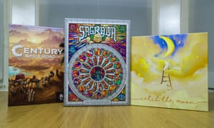 Century: Spice Road, Sagrada and Catch The Moon board games