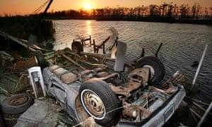 Hurricane Katrina debris