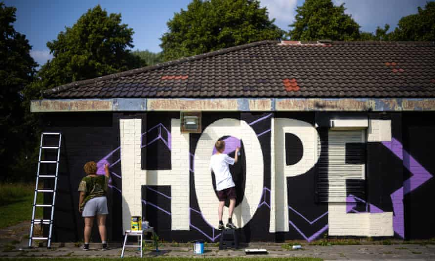 The mural being painted in south Manchester.