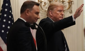 Donald Trump with the president of Poland, Andrzej Duda.
