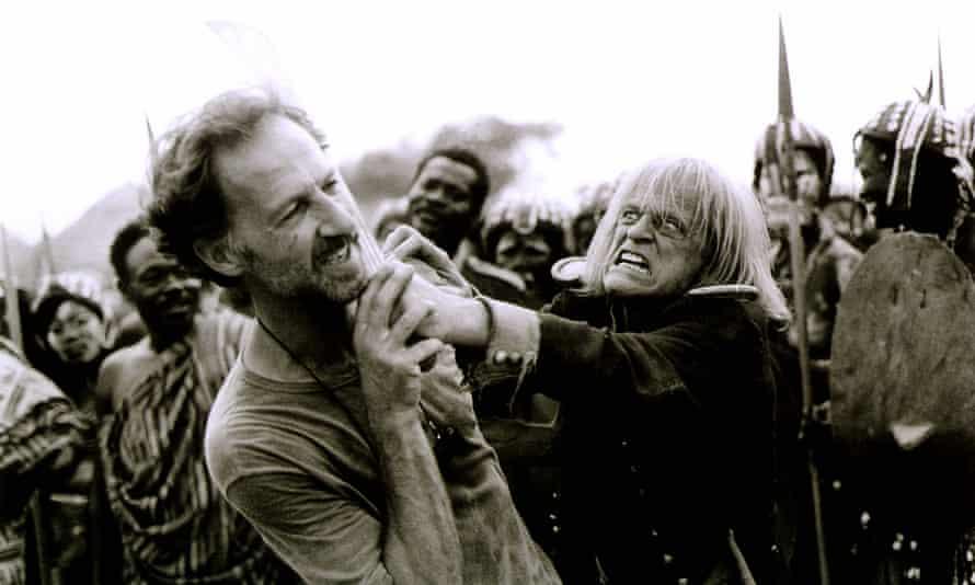 Herzog and Klaus Kinski during the filming of Cobra Verde