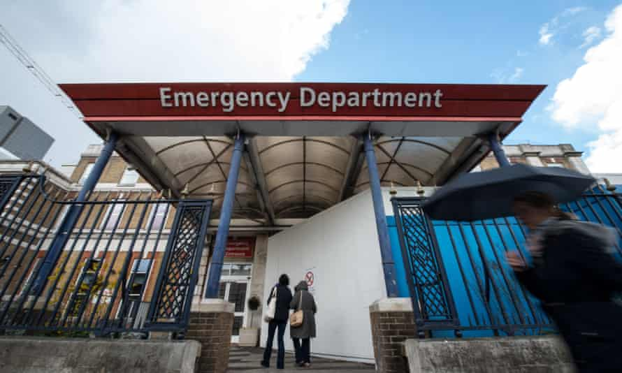 The emergency department at King's College hospital, London.