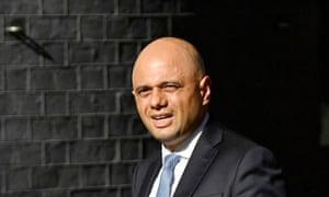 Sajid Javid arriving at No 10 to meet Boris Johnson.