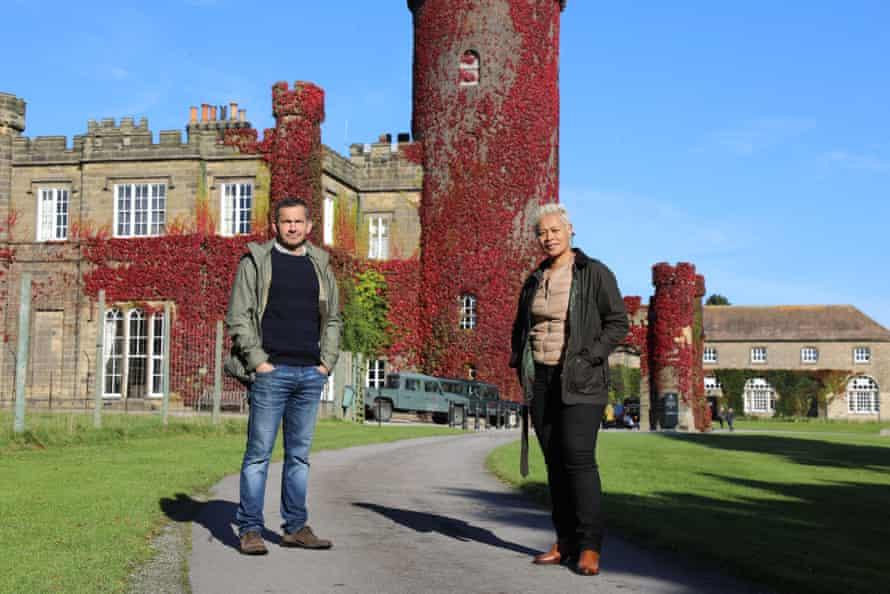 Giles Coren and Monica Galetti at Swinton Park hotel