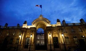 The Elysee Palace in Paris.