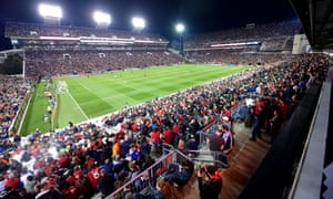 The 55,297 fans in Bobby Dodd stadium in Atlanta wait for kick-off at United's first home game, in March 2017.
