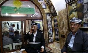 Kurds in a cafe in Erbil.