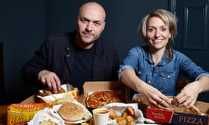 Simon Rimmer and Kate Quilton on Tricks of the Restaurant Trade, Channel 4