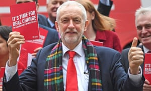 Jeremy Corbyn at the launch of the Labour manifesto