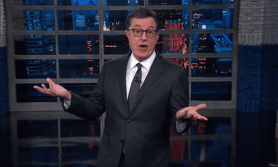 """Stephen Colbert: The president thinks """"not only can I do national emergency, many say I am national emergency."""""""