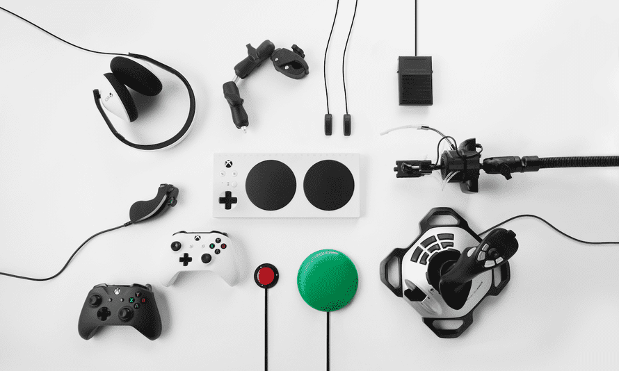 The Xbox Adaptive Controller can be used with a variety of specialist buttons and joysticks, bringing games to people with a range of disabilities