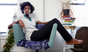 Alexis Okeowo at home in Brooklyn, New York.