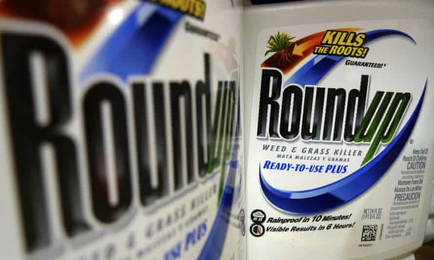 Tubs of Roundup weedkiller