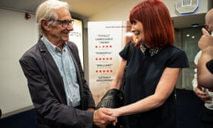 Ken Loach meets Ruth Lane at the screening of the film in Brighton