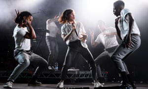 Christine and the Queens on stage at Latitude.
