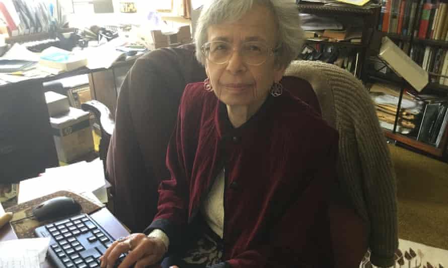 Miriam Griffin at her computer