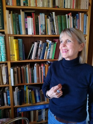 Christa Byrne in her bookshop on Colonsay.