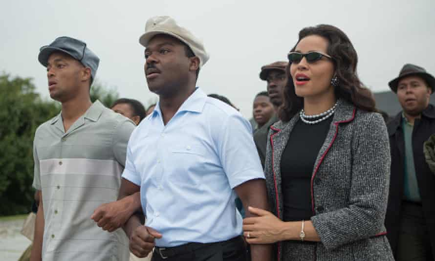 David Oyelowo, centre, as Martin Luther King in Selma