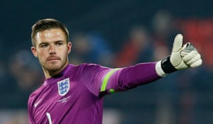 Clean sheet for Jack Butland as he celebrates at the end of the match.