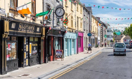 Small-town life … Castlebar, County Mayo, where Rooney was born and grew up. Photograph: Alamy