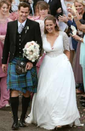 11/04/15 Andy Murray and his bride Kim Sears