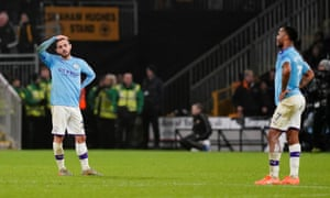 Bernardo Silva and Raheem Sterling cut frustrated figures as City slip to defeat at Molineux