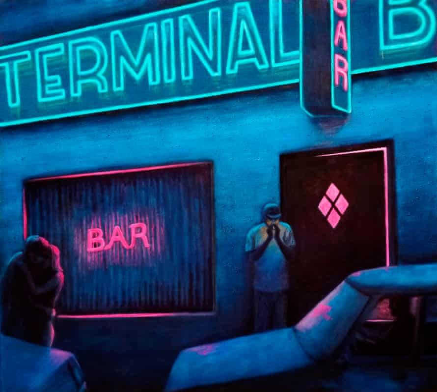 A hallucinatory haze to the thriving nocturnal streets ... Terminal Bar 2 (2017).