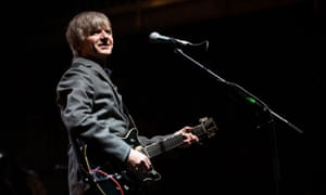 Neil Finn performs on stage during Falls festival in Lorne, Australia.