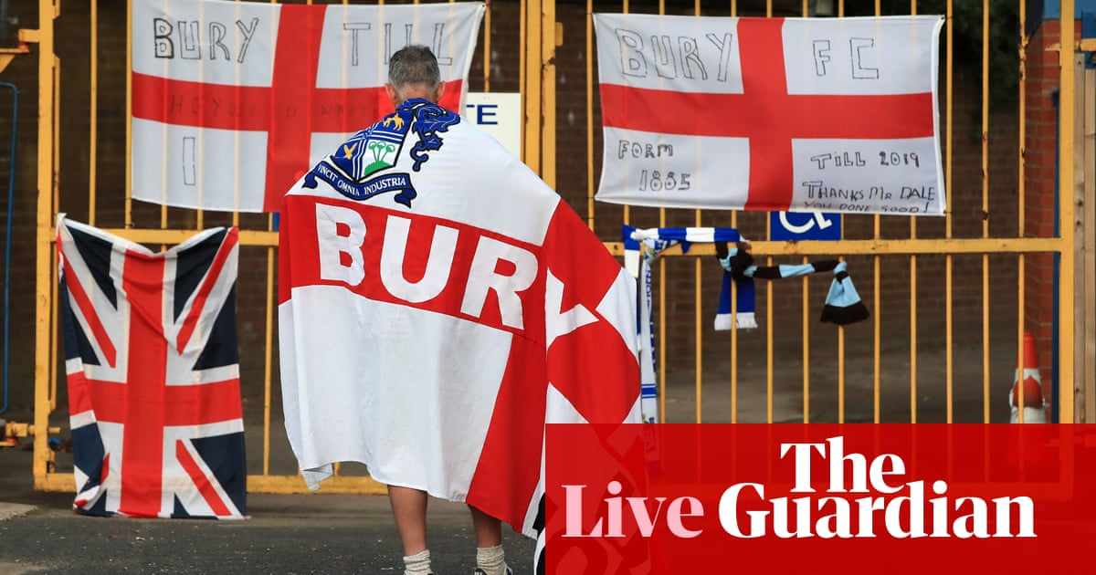 Bury facing EFL expulsion, plus Carabao Cup second round – live!