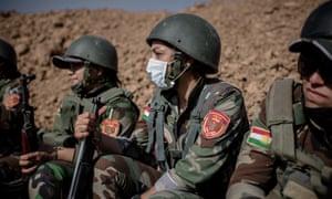 A female Syrian Kurdish peshmerga unit