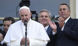 John Boehner (R) and Pope Francis.