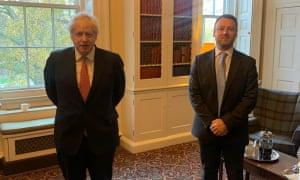 Brendan Clarke-Smith (right) with Boris Johnson at No 10
