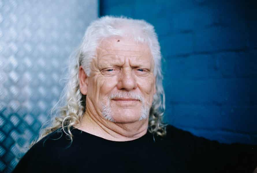 Kevin 'Pappy' Johnson, 62, an entrant into the everyday mullet category