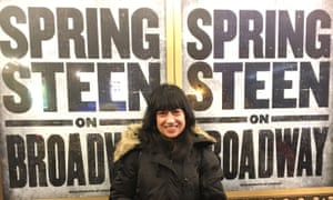 Sindy Grewal at Springsteen's Broadway show in 2018.