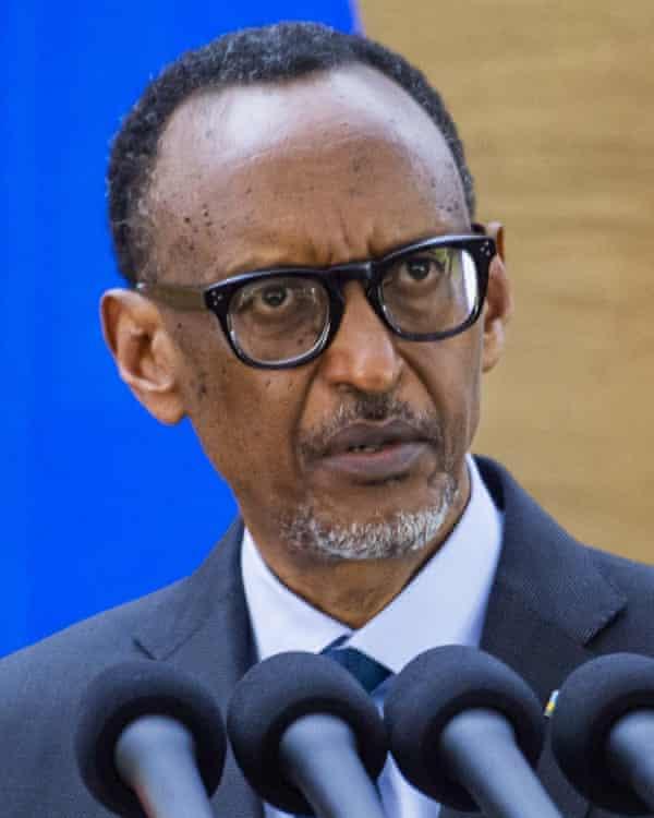 Rwandan president Paul Kagame.