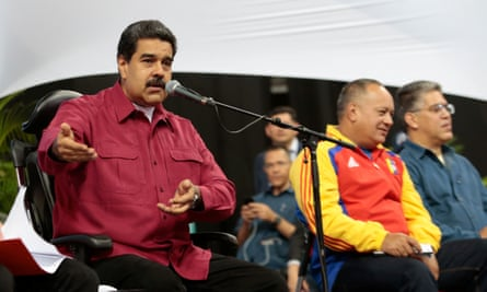 Maduro speaks during a meeting with members of the constituent assembly in Caracas on Wednesday.