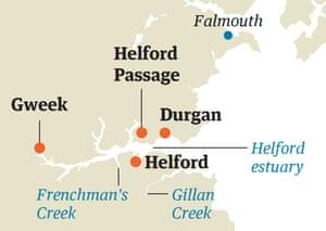 Cornwall map seaside
