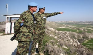UN soldiers patrol the buffer zone that separates southern and northern Cyprus