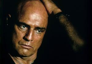 Marlon Brando as Colonel Kurtz in Apocalypse Now.