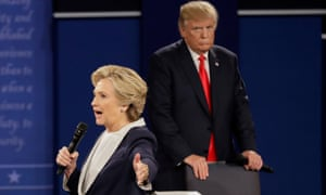 The second Trump-Clinton presidential debate, in October 2016.
