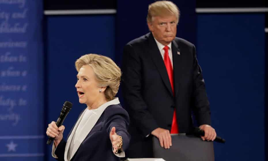 The second Trump-Clinton presidential debate, in October 2016.