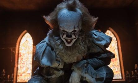 Bill Skarsgard as Pennywise in It.