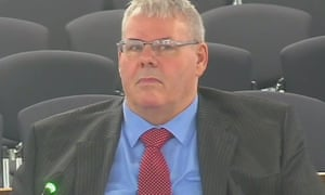 Richard Farnell giving evidence to the inquiry.